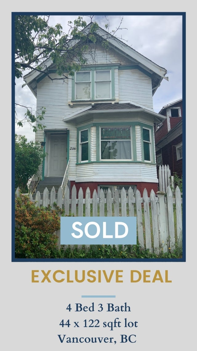 216 E 16th Ave Vancouver BC - Main House/Single Family for sale