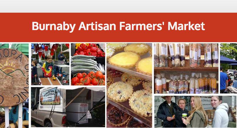 Visit the Burnaby Artisan Farmers Market