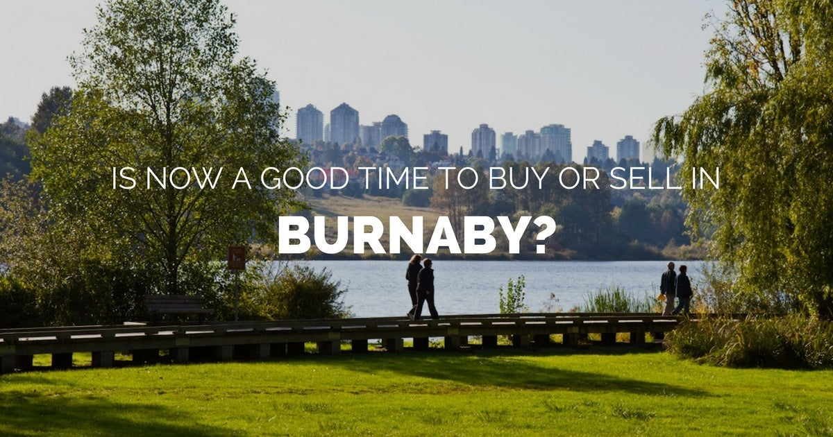 Burnaby fall 2017 real estate market update
