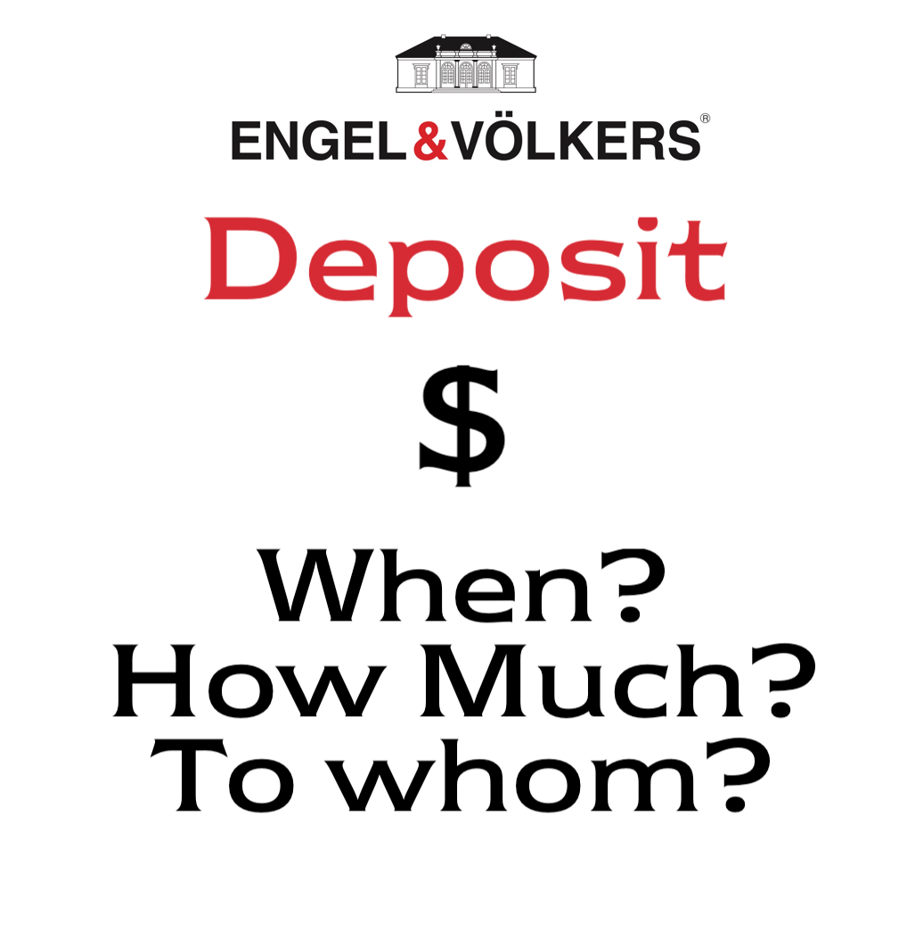 Deposit payment on a home for sale