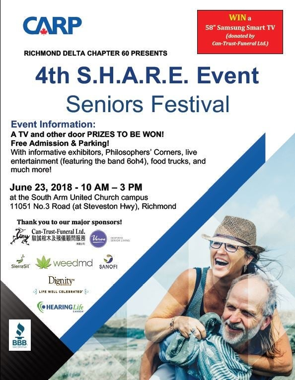 CARP SHARE Event 2018, South Arm United Church, Richmond, BC