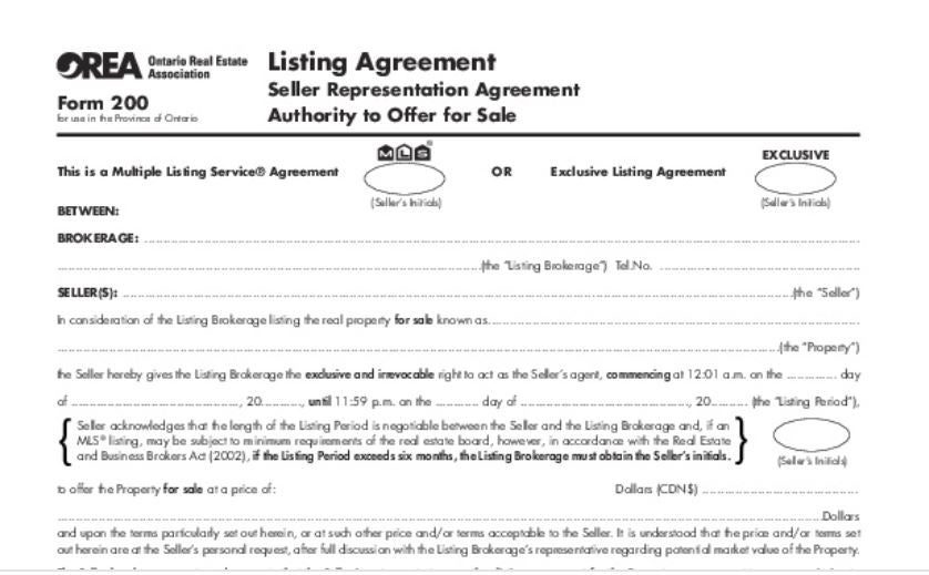 Whats A Listing Agreement Dave Mcmurray Sales Representative