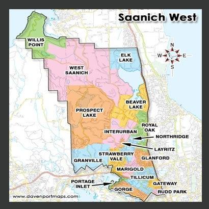 Saanich West Condo Map