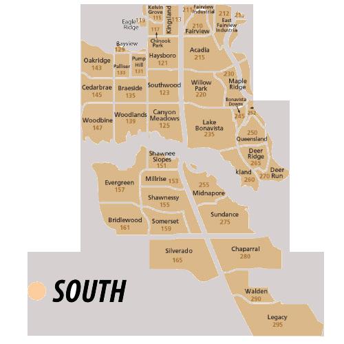 South Region of Calgary