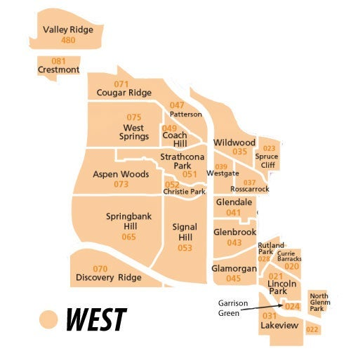 West Region of Calgary