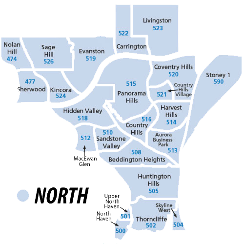 North Calgary Properties Region