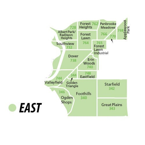 East Calgary Properties Region
