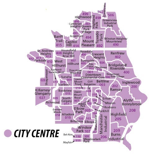 City Centre Region of Calgary
