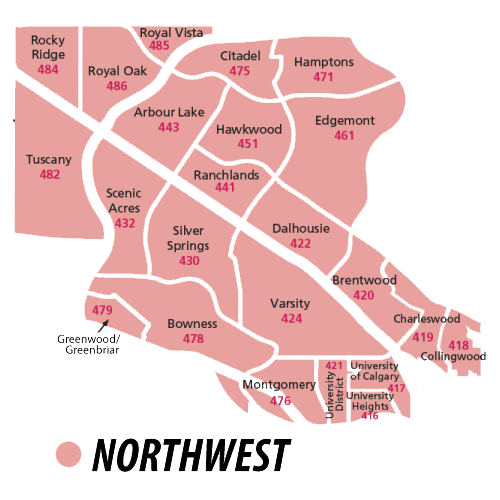 Northwest Region of Calgary