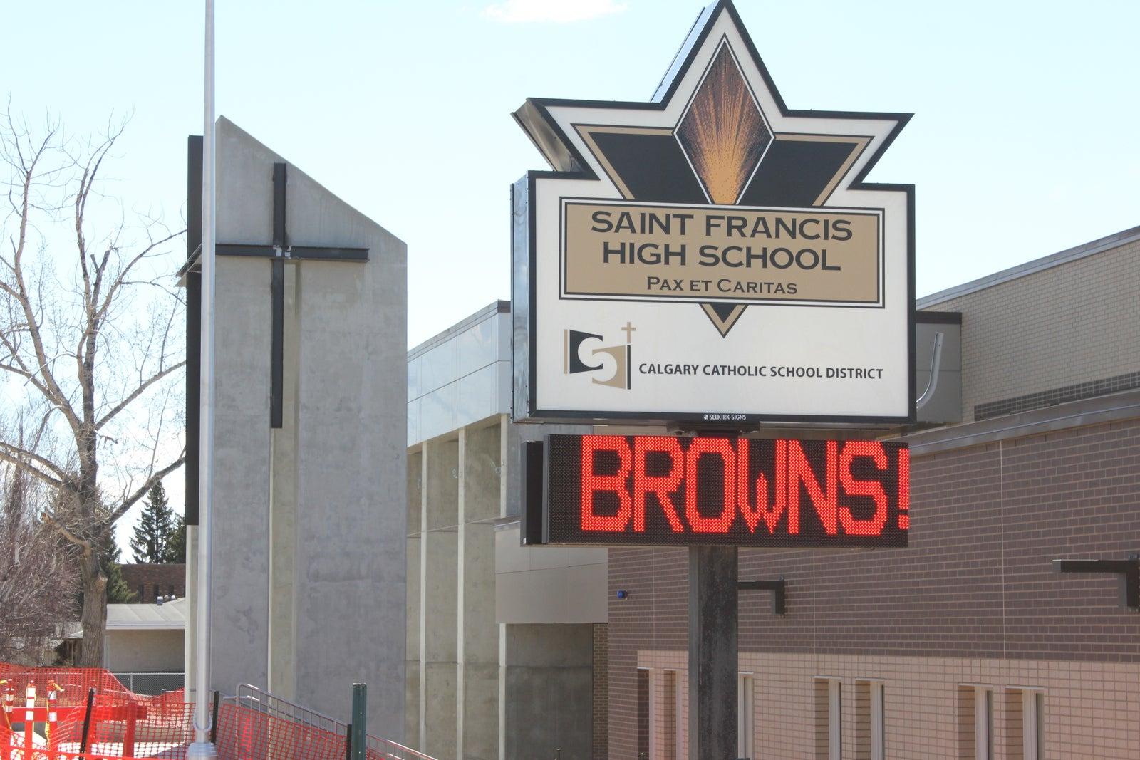 Saint Francis High School, Calgary Grades 10-12