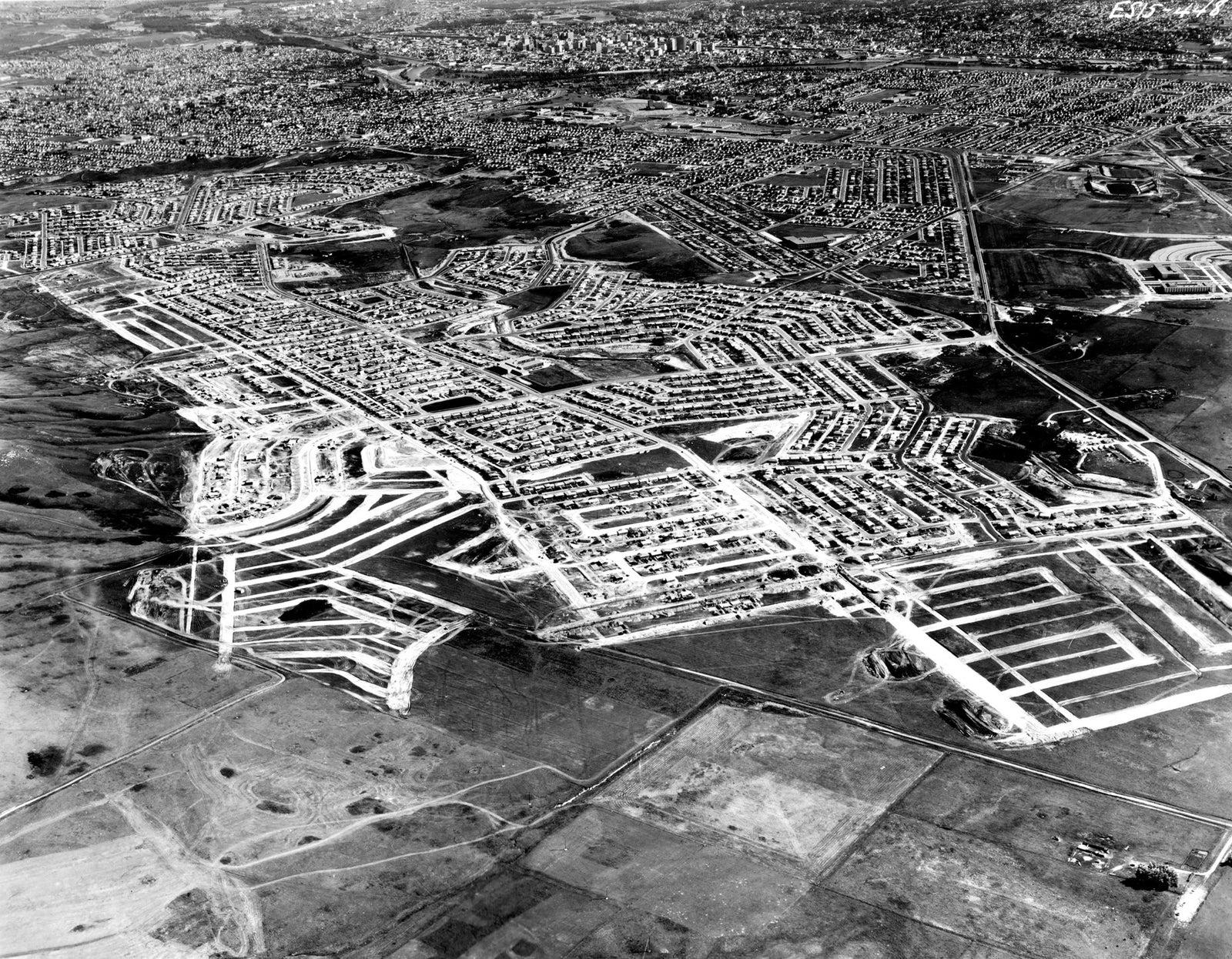 Triwood Aerial 1961 - Calgary
