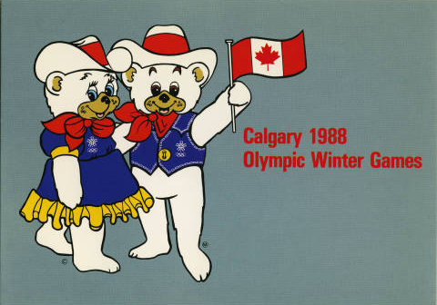 Hiedi and Howdy Official Mascots from the 1988 Calgary Olympics