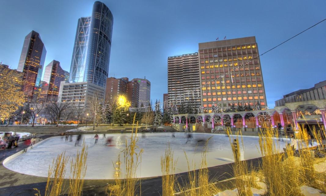 Olympic Plaza, Downtown Calgary