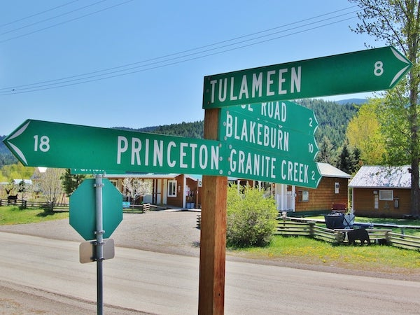 Coalmont Directional Sign