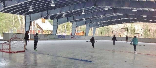 Tulameen covered hockey rink