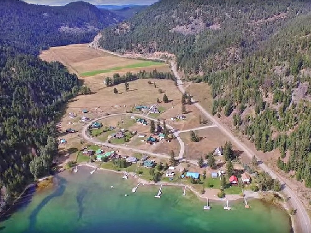 Aerial of the north end of Allison Lake