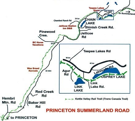 Princeton Summerland Road map