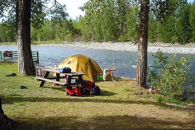 Camping along the Similkameen River