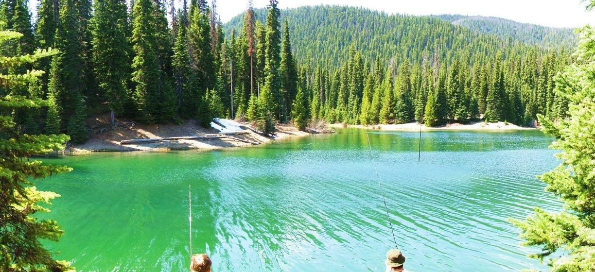 Fishing at Manning Park