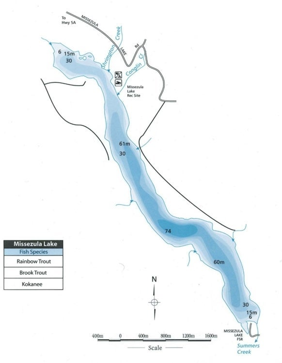 Missezula Lake Map