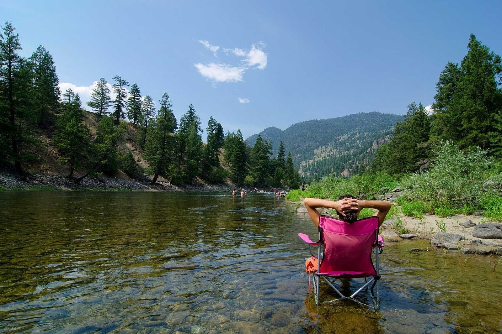 Relaxing at the Similkameen River