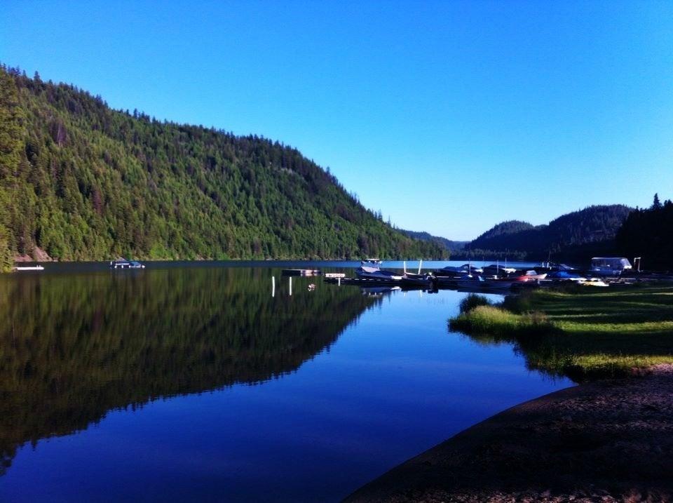 Public Beach & dock at Missezula Lake
