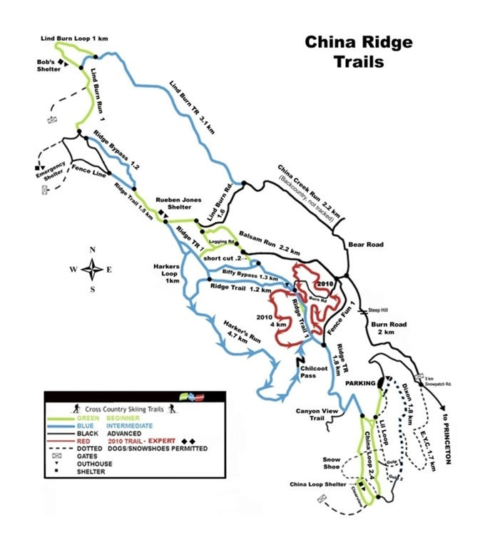 China Ridge Trails Map