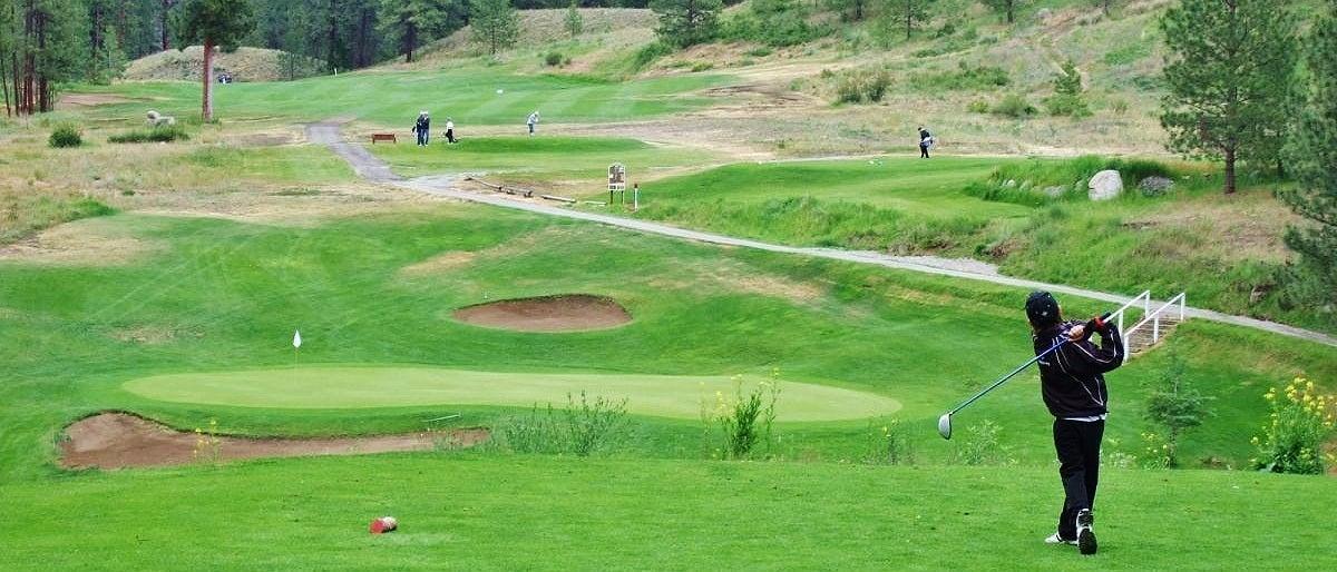 Golfing in Princeton BC
