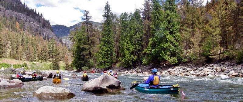 Paddling on the rivers in the Similkameen Valley