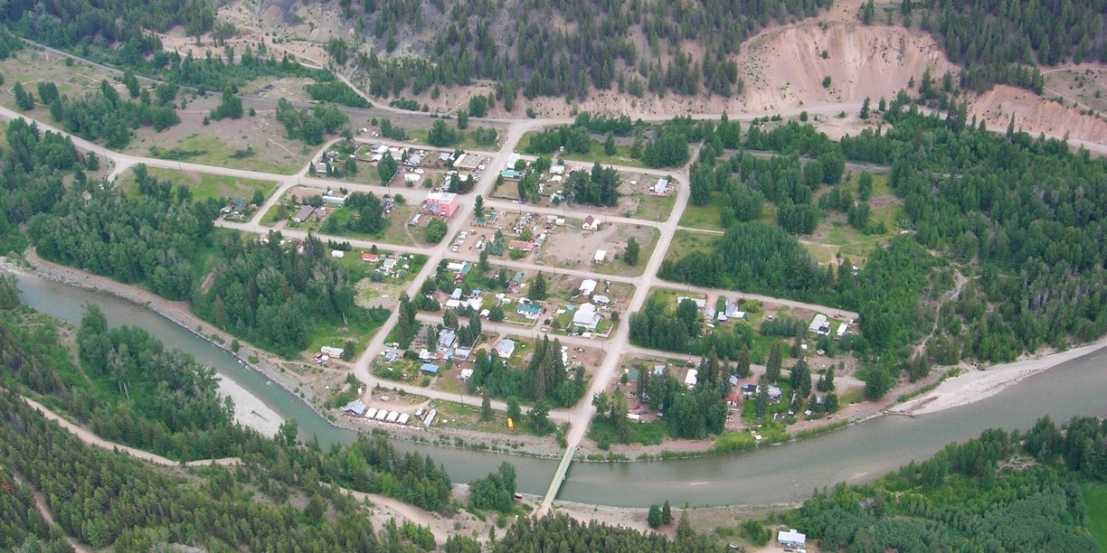 Aerial view of Coalmont BC