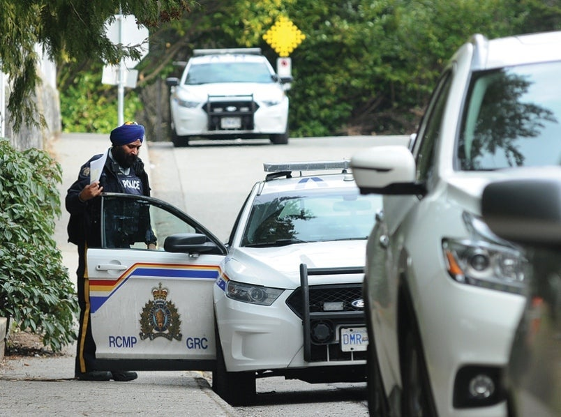 RCMP and Lawyers assisting in a physical assault case.