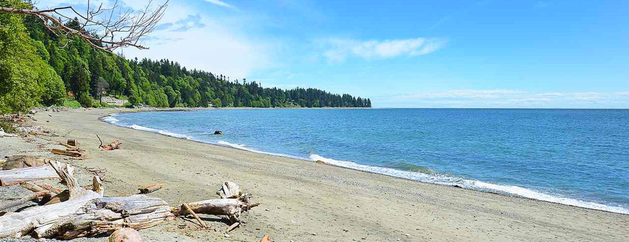 Beach in Roberts Creek on the Sunshine Coast