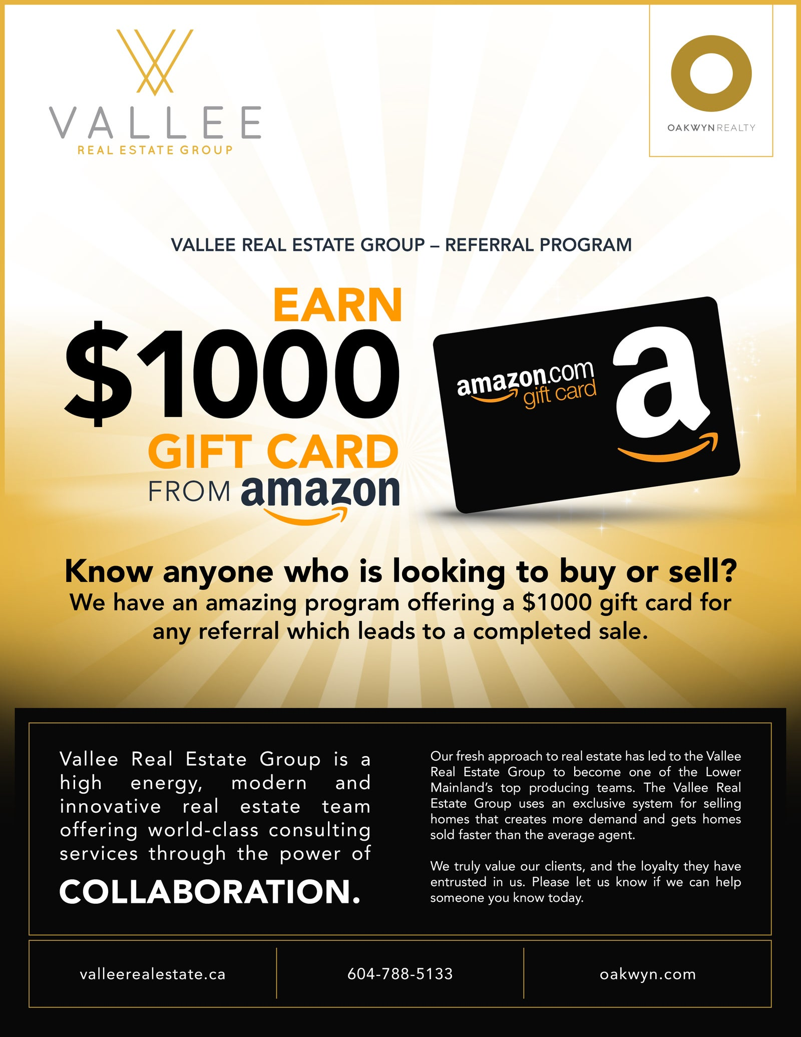 VREG REFERRAL PROGRAM EARN $1000 AMAZON GIFT CARD - Vallee