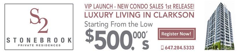 Register Now - VIP Stonebrook 2 NEW Condo Sales