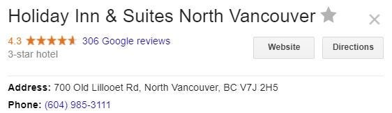 Holiday Inn and Suites North Vancouver