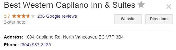 Best Western Capilano Inn North Vancouver