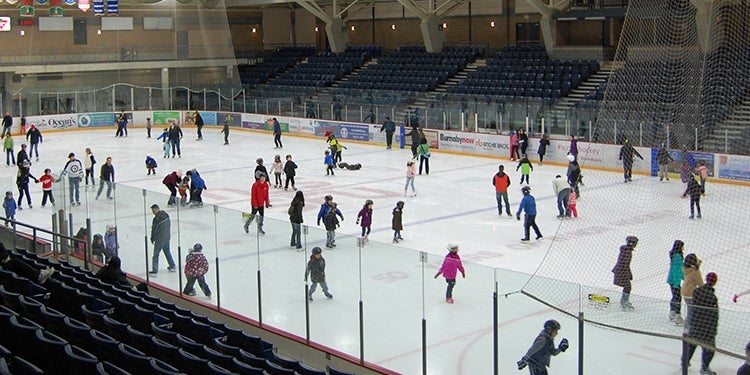 Thanksgiving toonie skate at Kensington Recreation Complex, Burnaby
