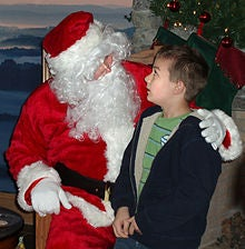 Santas Claus with a child
