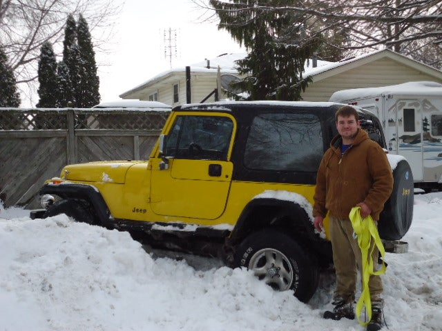 Jeep stuck in the snow