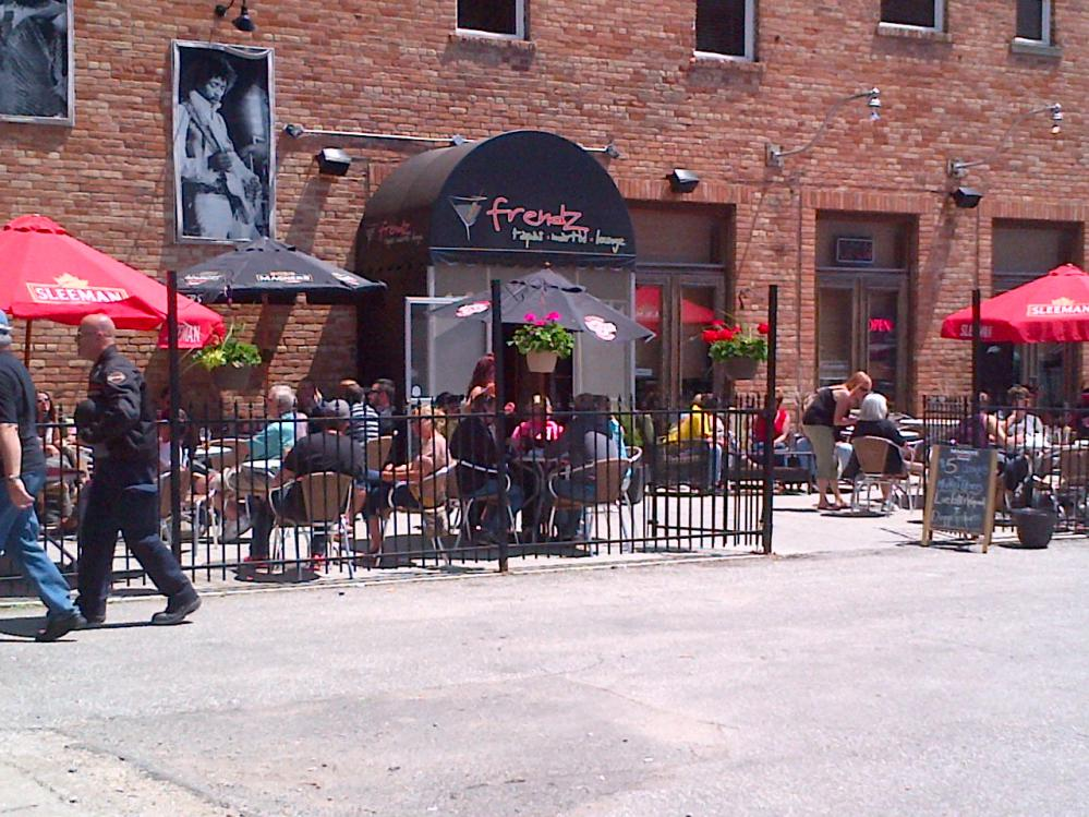 Oudoor Patio a Friendz on King St. Chatham