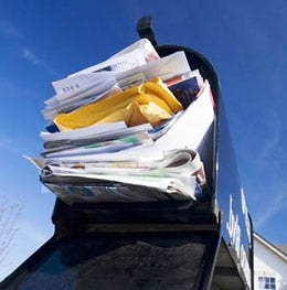 Stuffed Mail Box