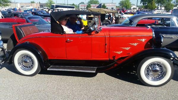Vintage automobile at Retrofest
