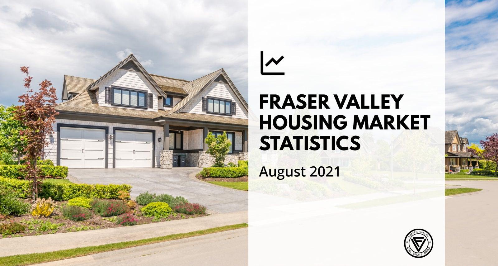 Fraser Valley Housing Market Statistics - August 2021