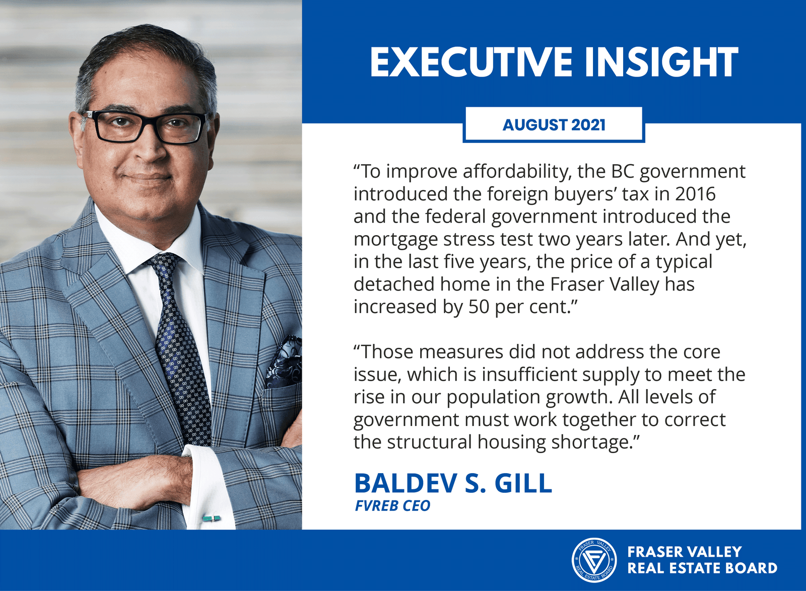 Fraser Valley Real Estate Board August 2021 - Executive Insight