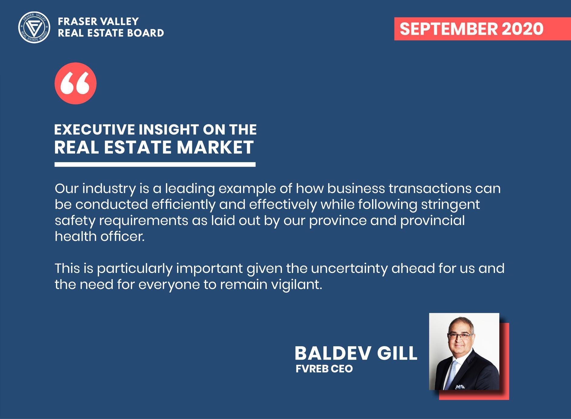 Fraser Valley Housing Market Report September 2020 – Executive Insight