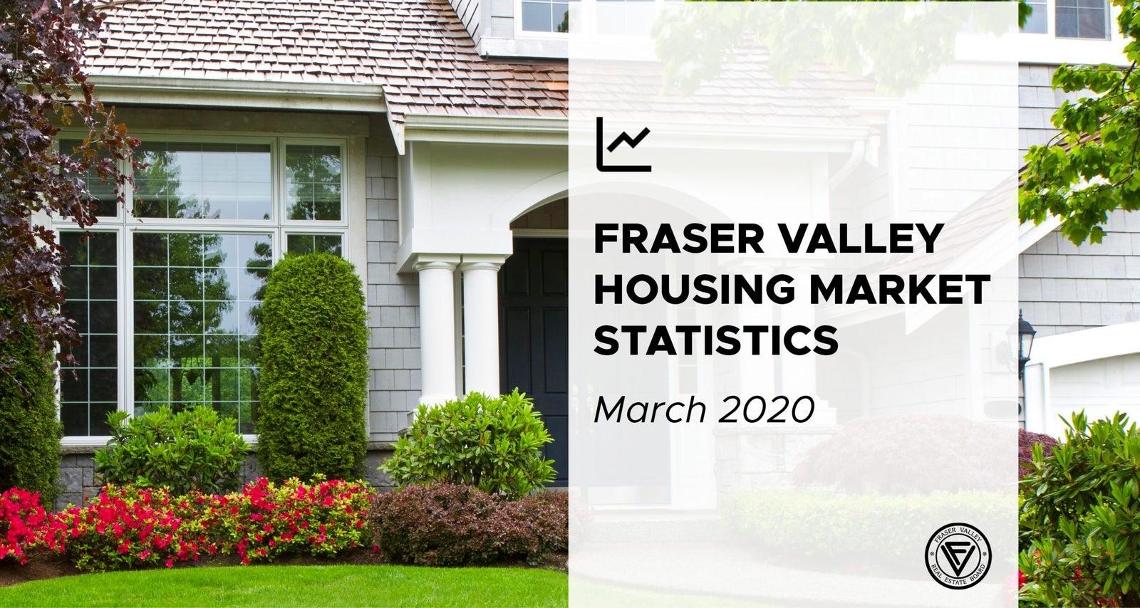 Fraser Valley Housing Market statistics March 2020
