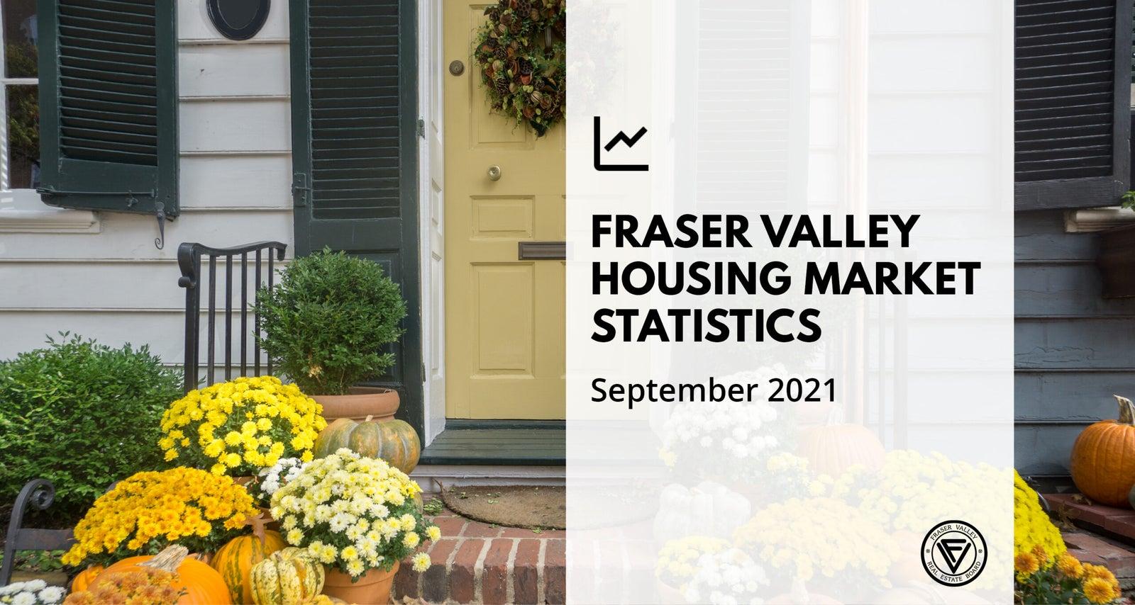 Fraser Valley Housing Market Statistics for September 2021