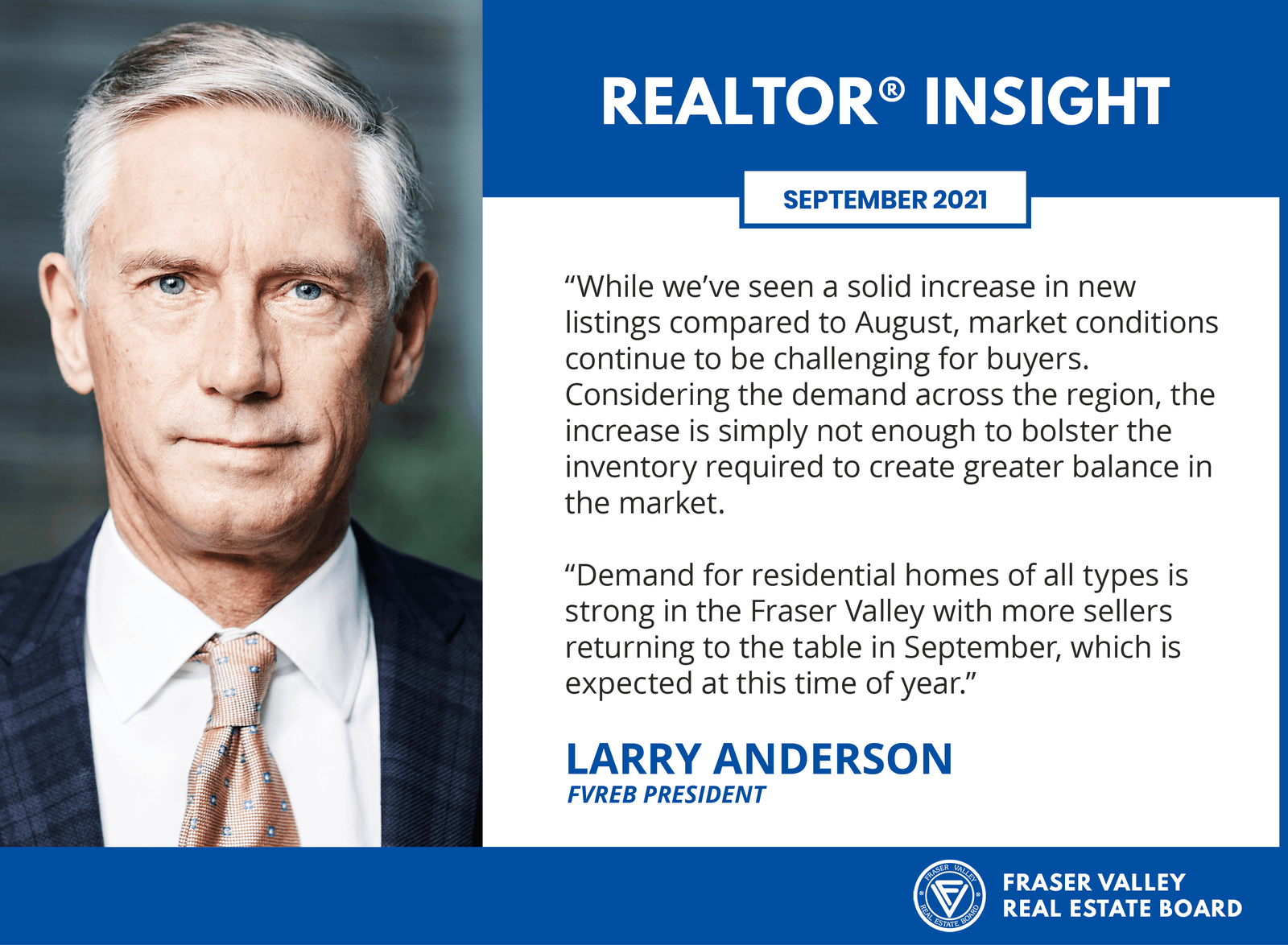 Fraser Valley Housing Market Report - Realtor Insight - September 2021