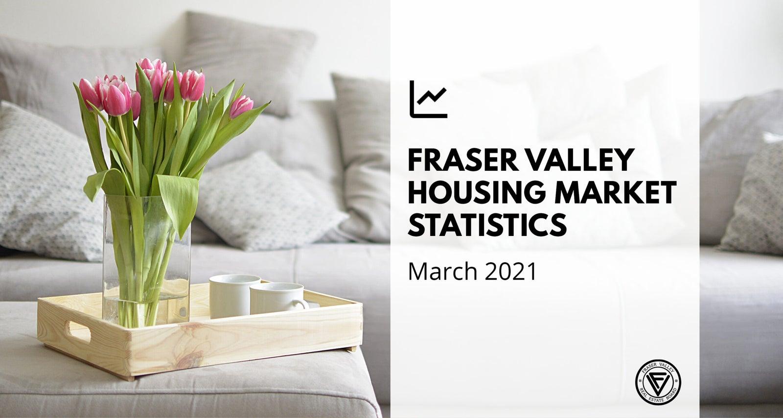 Fraser Valley Housing Market Statistics for March 2021