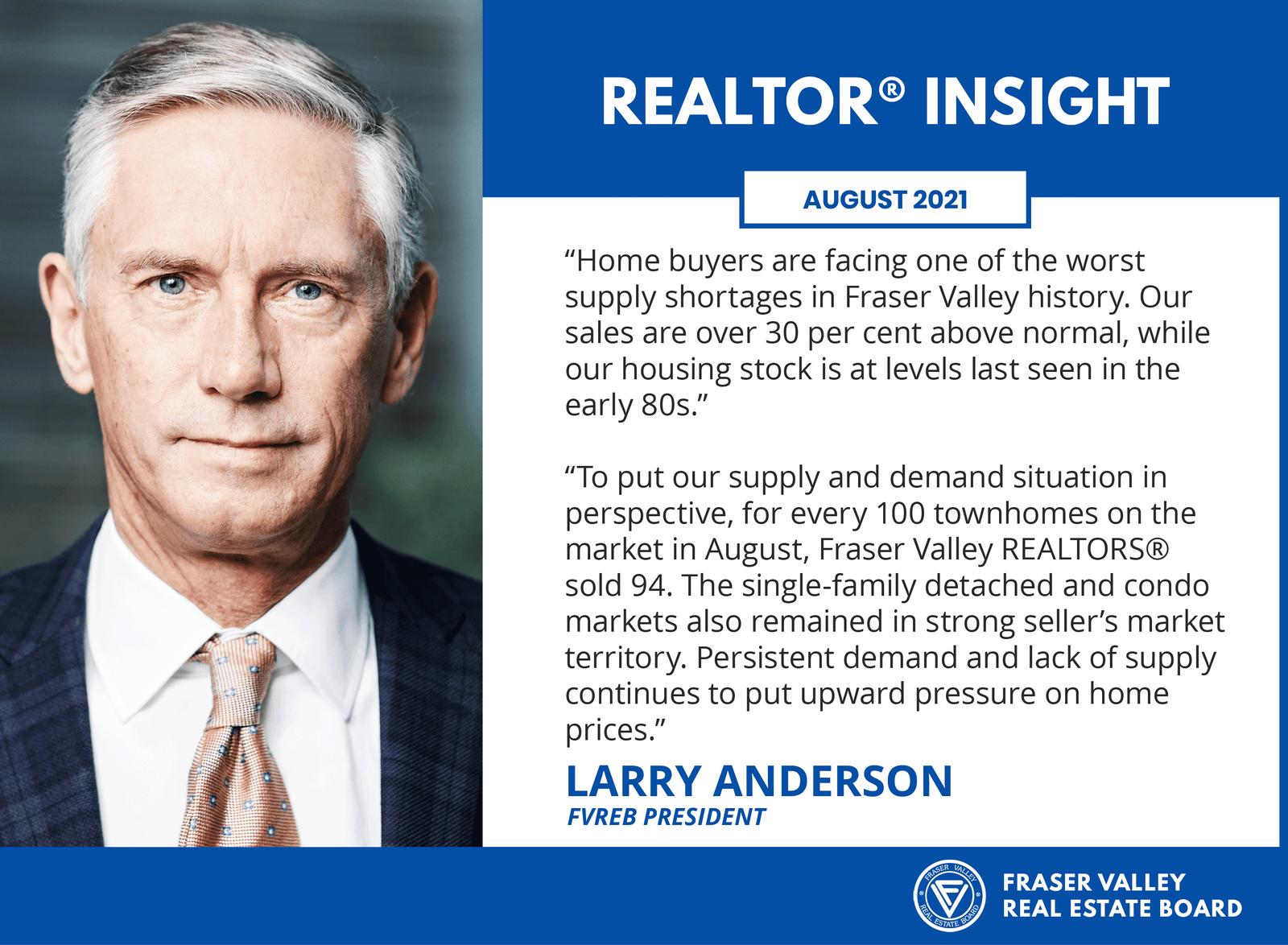 Fraser Valley Real Estate Board August 2021 - Realtor Insight